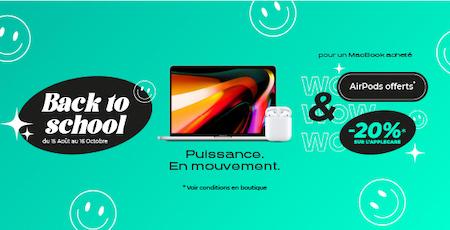 Pour l'achat d'un MacBook, vos AirPods offerts chez Inter Actif à Champéa Shopping