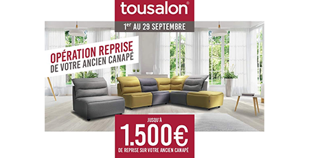 offre reprise Tousalon Champéa Shopping