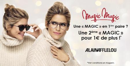 Votre 2ème « MAGIC » pour 1€ de plus chez Afflelou aux Armoiries Shopping à Bry sur Marne