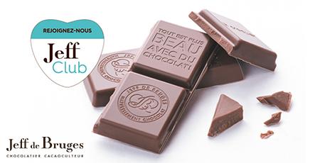 offre de bienvenue Jeff de bruges bercy 2 charenton le pont chocolats offre
