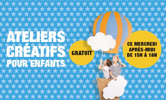 Ateliers créatifs pour les enfants à Bercy 2 à Charenton le Pont