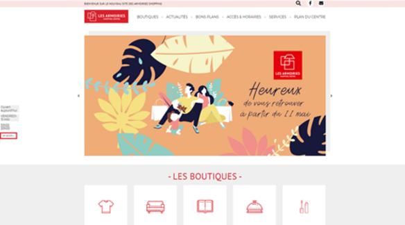 nouveau site internet les armoiries shopping bry sur marne