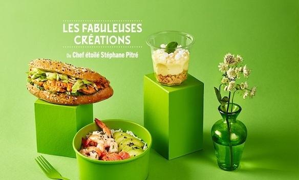 Créations signées par le Chef étoilé Stéphane Pitré pour Pomme de Pain à Bercy 2