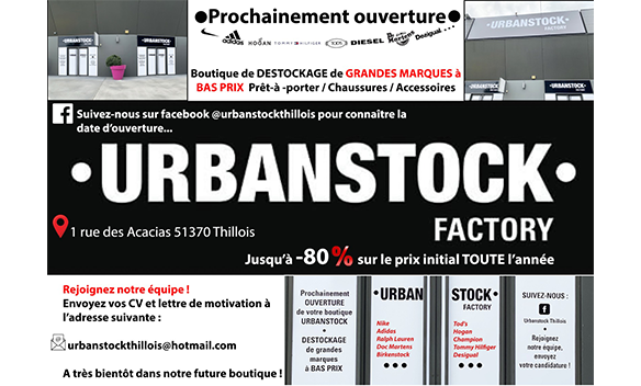 Champéa Shopping Thillois Reims recherche vendeurs urbanstock