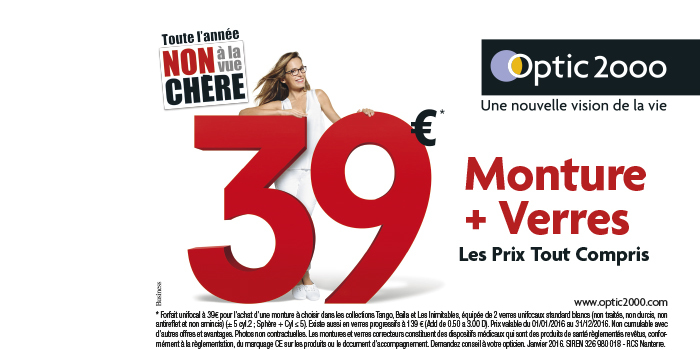 Optic opticien lunettes centre commercial Grand Quetigny Dijon