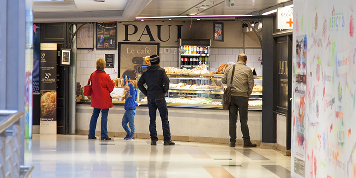 Paul restaurant pain sandwich centre commercial Bercy 2 charenton le pont
