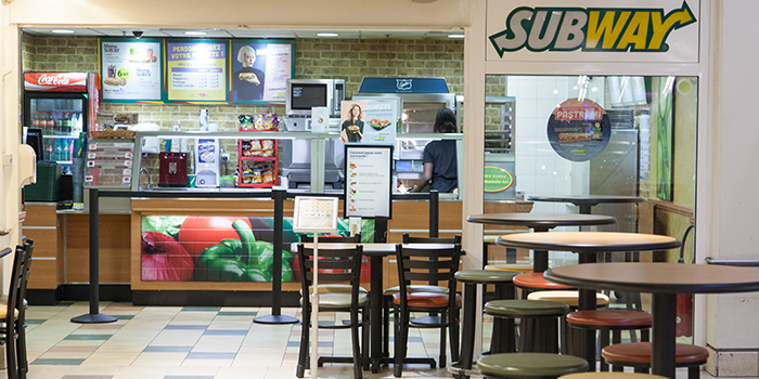 Subway sandwich restaurant centre commercial Bercy 2