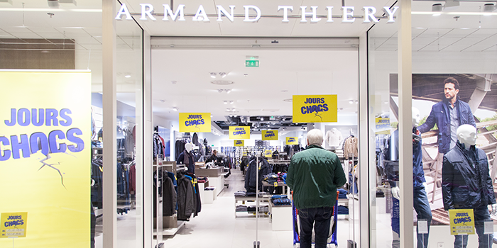 armand thiery mode homme centre commercial Bercy 2 charenton le pont shopping