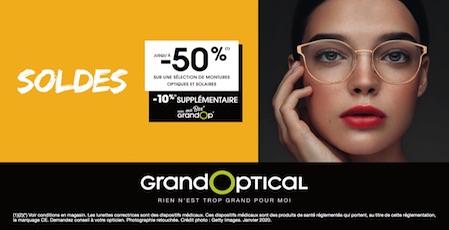 boutique, lunettes, GRANDOPTICAL, monture, offre, soldes hiver, optique, solaire, bercy, bercy 2, centre commercial