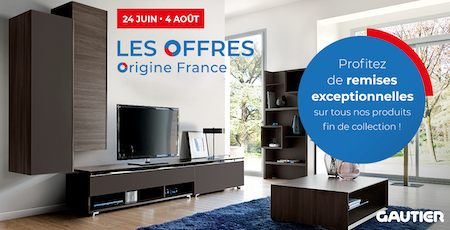 Offre ORIGINE France Gautier reims thillois Champéa Shopping décoration promotion