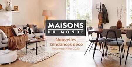 nouvelle collection automne hiver 2020 maisons du monde décoration buld'air shopping avignon
